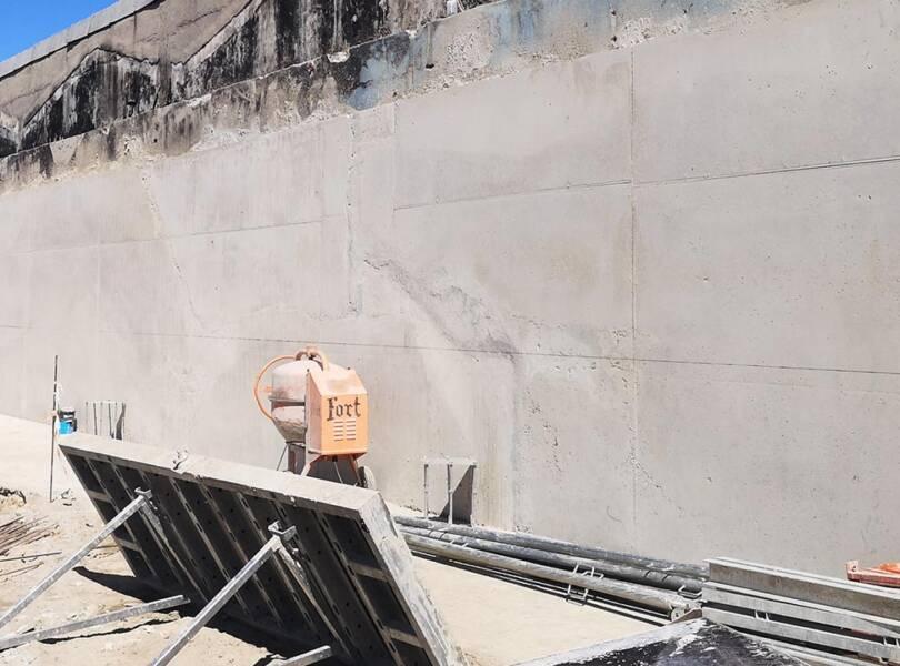 Coffrage de mur à une face (contreforts)