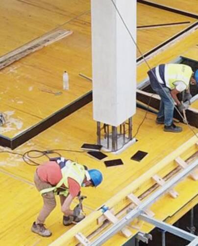 Construction de dalle dans un espace commercial